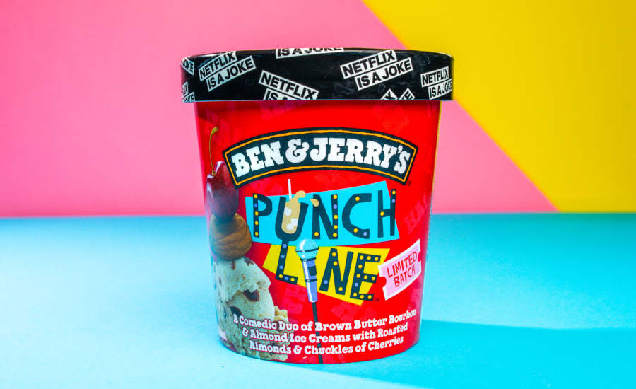 Netflix Stand Up Comedy Punch Line Ice Cream Ben Jerry's