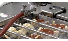 Automated Robot Filling Depositing Pasta Sauce Baker Bot Apex