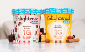 Enlightened Delish Pumpkin Cheesecake Peppermint Brownie Seasonal Ice Cream