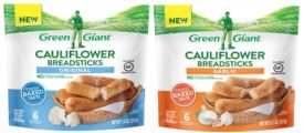Green Giant Plant-Based Gluten Free Cauliflower Breadsticks Garlic