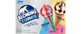Unicorn Bubblegum Strawberry Ice Cream Cones Klondike Unilever