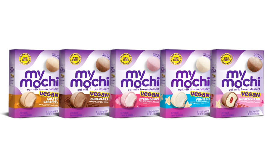 Vegan Oat Milk Frozen Mochi Ice Cream Dessert