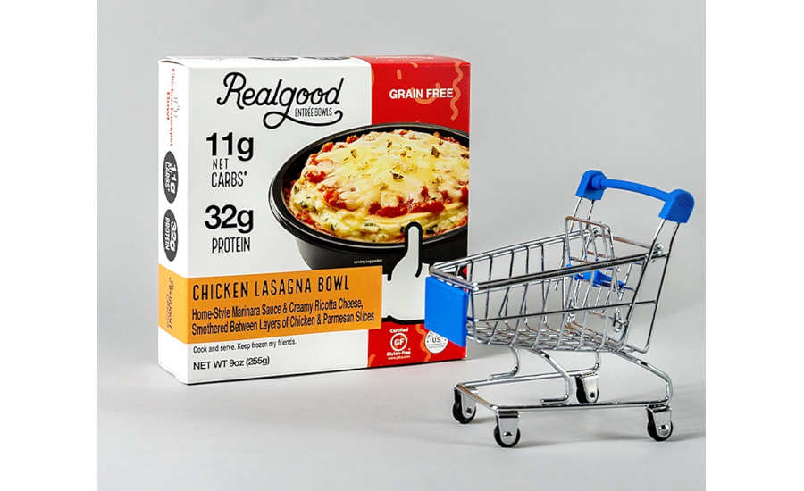 Low Carb High Protein Chicken Pasta Lasagna Bowl Real Good Foods Frozen