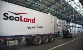 SeaLand Container in transit