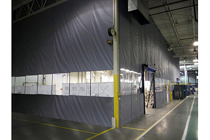 Dust Containment Curtain Walls 2014 07 03 Refrigerated