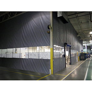 Zoneworks dust containment wall