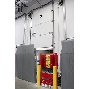 Assa Abbloy hurricane resistant cold storage door