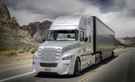 Freightliner self-driving truck
