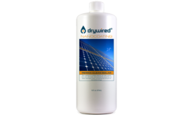 Drywired solar panel cleaning solution