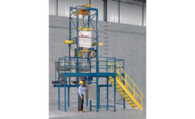 Flexicon bulk bag discharging station