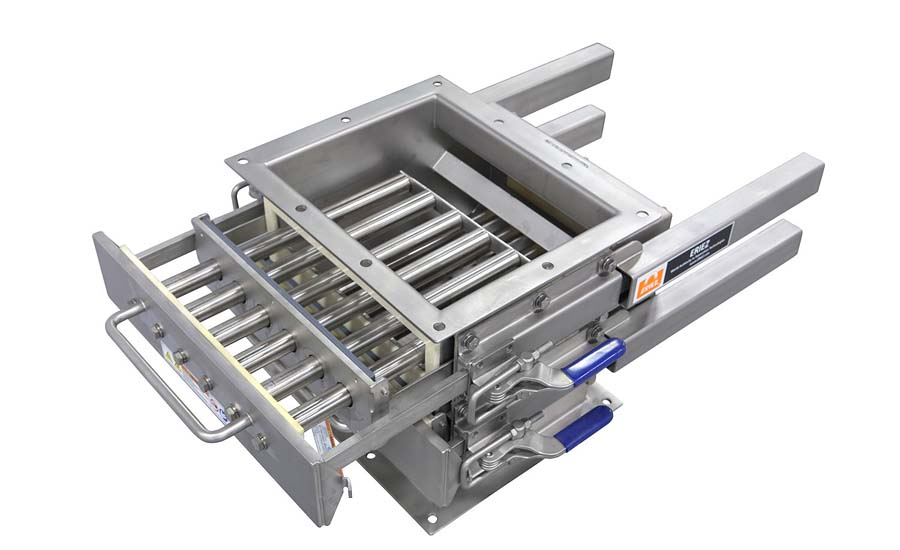 Easy-to-clean grate magnet with advanced modular design