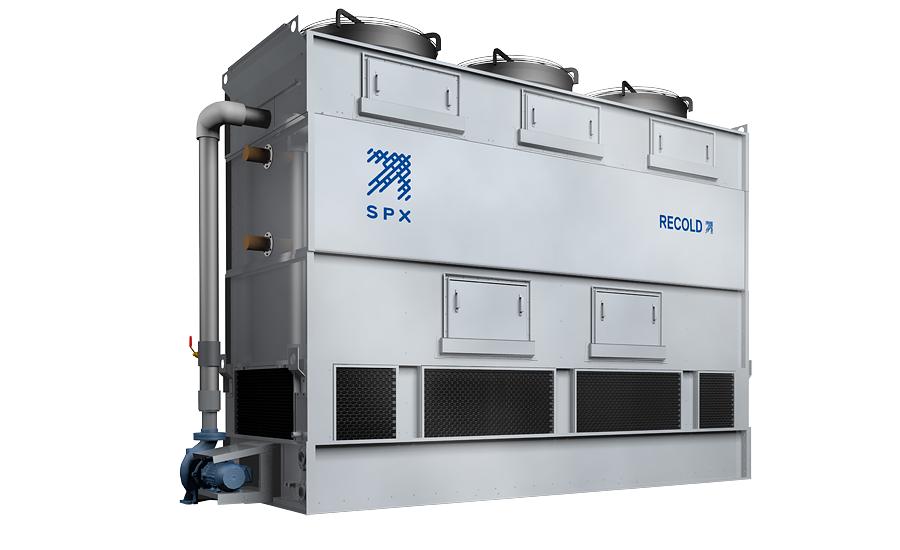 Evaporative Condensing Unit : Evaporative condenser reduces refrigerant charge lowers