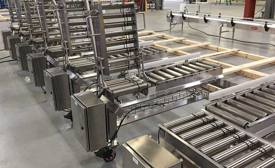 Motordriven  Motordriven Roller Conveyor For Frozen Foods With