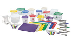 Rubbermaid color-coded line