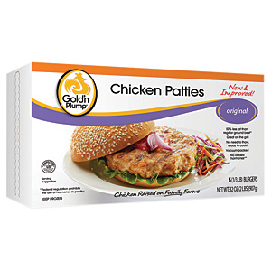 Goldn Plump chicken patties