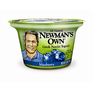 Newman's Own blueberry yogurt