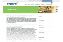 Forte blog screenshot