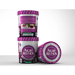 Acai Roots new sorbet packaging