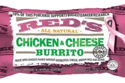 Reds burritos pink packaging