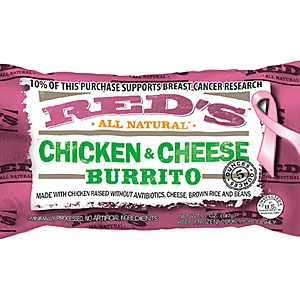 Reds burritos pink packaging