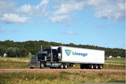 Lineage Logistics truck