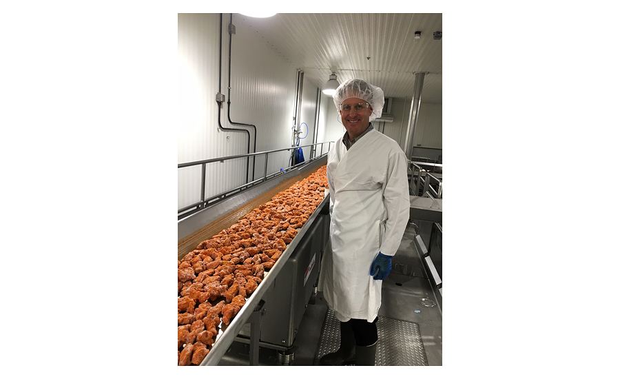 Foster Farms cooked chicken production line