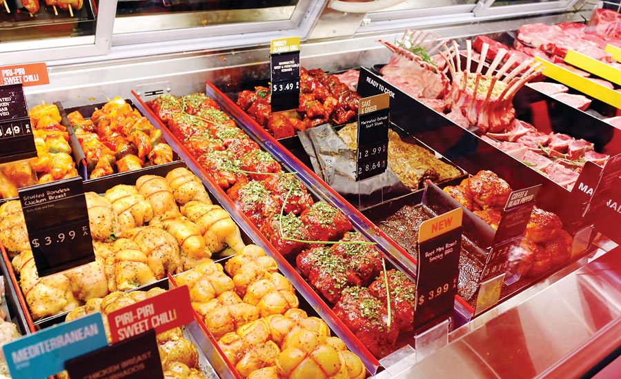 Refrigerated deli case