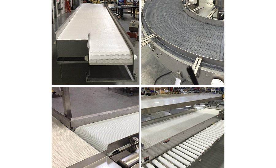 Multi-Conveyor raw food to case packer collage