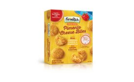 Farm Rich tapped into the bite-sized, ready-to-eat trend with new Pimento Cheese Bites.