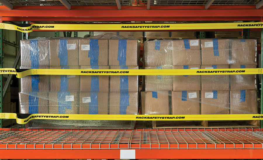Adrian's Safety Solutions pallet rack safety strap