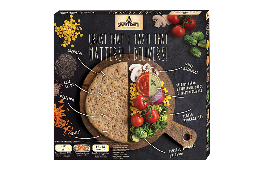 Sweet Earth Veggie Lovers Pizza packaging Back
