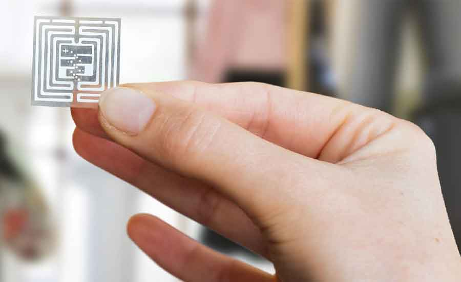 hand holding an RFID