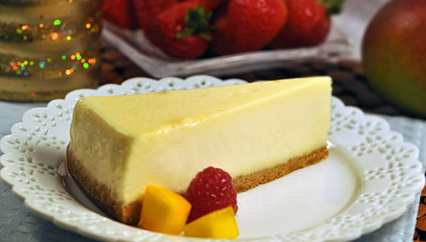 Love and Quiches Greek yogurt cheesecake