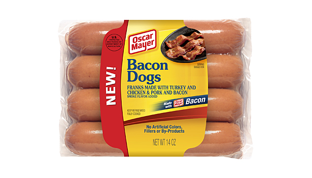Oscar Mayer bacon hot dogs