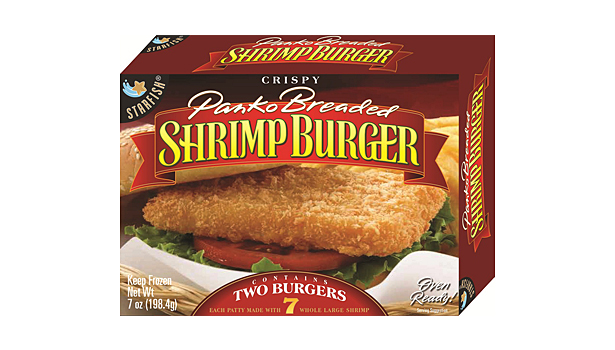 Starfish Inc Launched A Retail Version Of Their Panko Breaded Shrimp Burger