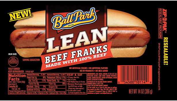 Ball Park lean hot dogs