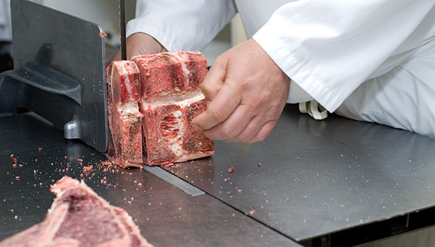 Meat cutting and food safety